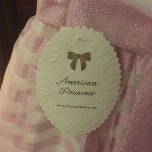 American Princess Dresses - Lilac and white girls dress